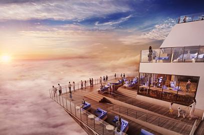 リニューアルオープン「雲海テラス」